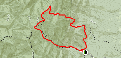 Spruce Spring Trail to Red Canyon Trail Loop Map