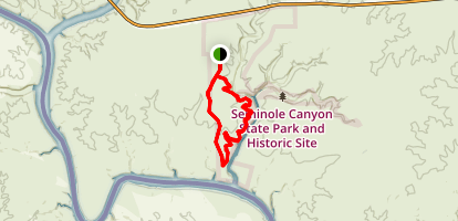 seminole canyon via rio grande trail map