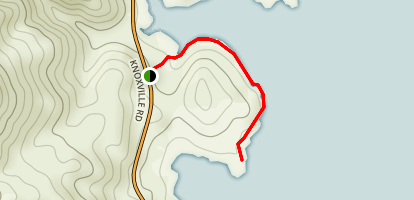Barton Hill Trail at Lake Berryessa Map