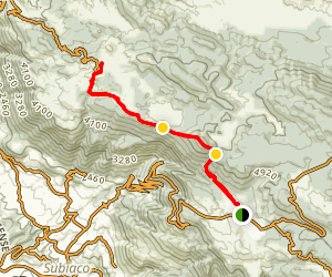 Livata to Campaegli Hike Map