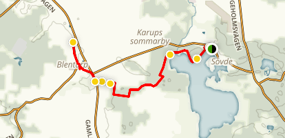Skåneleden Trail: Sövde-Blentarp Map