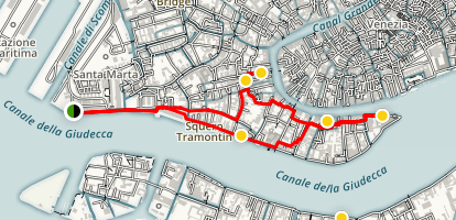 Dorsoduro Walking Tour Map