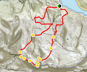 Ferrata West Crest to Marmolada Loop Map