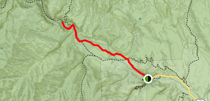 West Fork Gila River Trail  Map