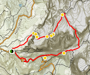 Ferrata Possnecker to Piz Selva Loop Map