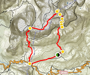 Ferrata Piazzetta to Piz Boe Loop Map