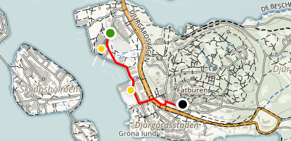 Family-Friendly Tour of Stockholm Map