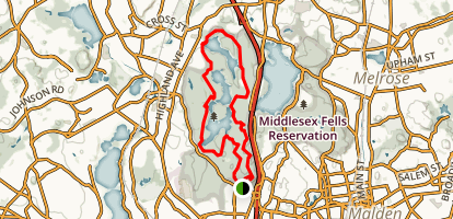 Middlesex Fells Reservation Loop Trail Map
