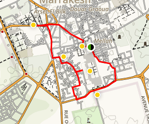 Marrakech Tour Map