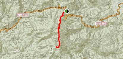 Sawyers Peak via Black Range Crest Trail Map