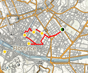 Florence's Right Bank Walking Tour Map