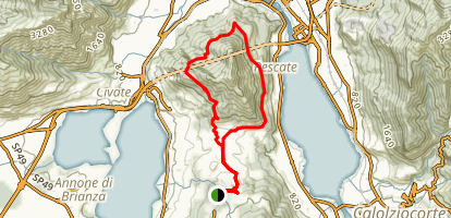 Monte Barro Loop Trail Map