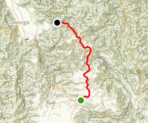 Rocky Valley Reservoir to Mt Bogong Map