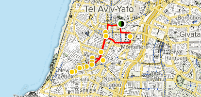 Tel Aviv Architecture Tour Map