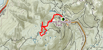 Black Mountain and Cabin Lake Map