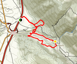 Ruara Valley, Cau, and Bosco di Cartore Loop Map