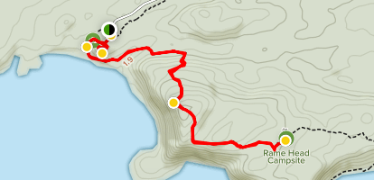 Bibbulmun Track: Conspicuous Cliff to Rame Head Campsite Map