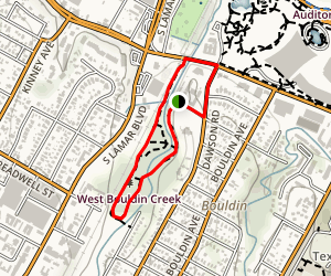 West Bouldin Creek Trail Map