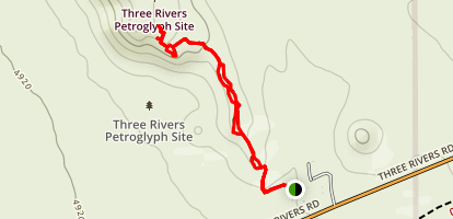 Three Rivers Petroglyph Site Trail Map