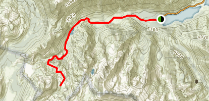 Barney, Robinson, and Crown Lakes Trail Map