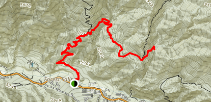 Momyer Creek Trail to Dobbs Cabin Map