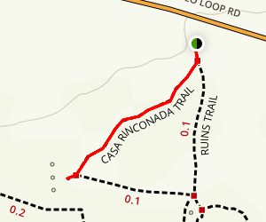 Casa Rinconada Trail Map