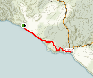 Johanna Beach to Castle Cove Trail via Great Ocean Walk Map