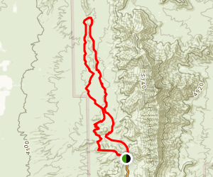 Loop 6 Lower Sunset Trail Map