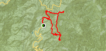 Crystal Lake and Windy Gap Trail Map