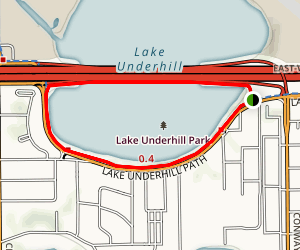 Lake Underhill Park Loop Map