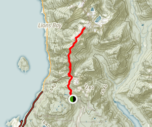 The West Lion Hike Map