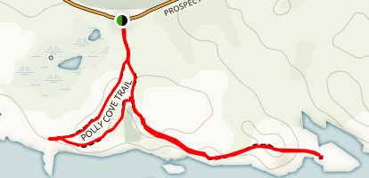 Polly Cove Trail Map