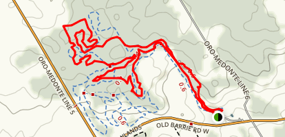 Hardwood Hills Mountain Bike Trails Map
