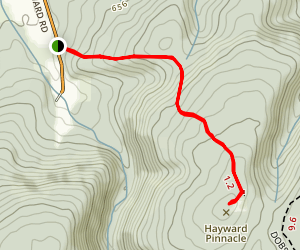 Hayward Pinnacle  Map