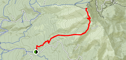 Gooseberry Springs Trail to Mount Taylor Map