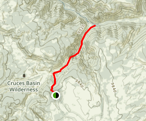 Cruces Basin Trail Map