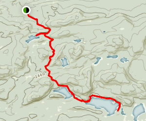 West Canada Lakes Trail Map