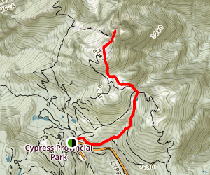 Mount Strachan Map