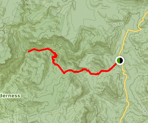 Hell's Hole Trail Map