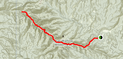 Bear Wallow Trail Map