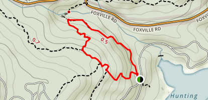 Cunningham Falls Lower Trail Map