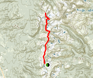 Satanta Peak and Mount Neva Map