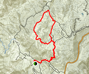 Chilao to Mt. Hillyer via Horse Flats Trail Map