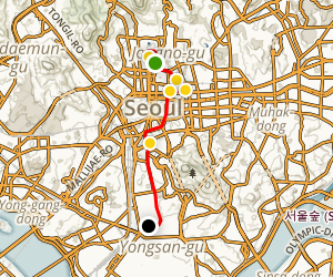 Seoul Highlights Walking Tour Map
