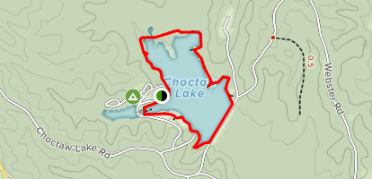Choctaw Lake Recreation Area Trail Map