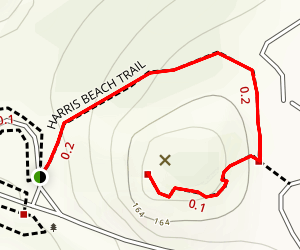 Harris Beach Trail to Harris Butte Map
