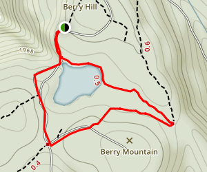 Berry Pond Trail Map