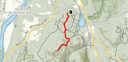 Mt Toby via Robert Frost Trail Map