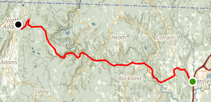 Mohawk Trail Scenic Drive Map