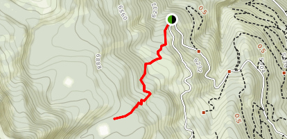 Willow Creek Trail to Skein Lake [PRIVATE PROPERTY] Map